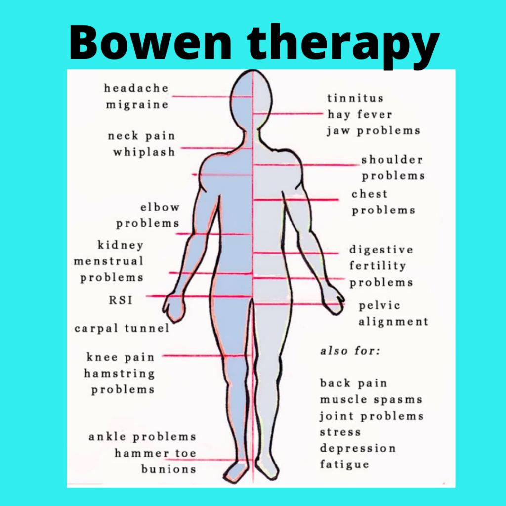 Bowen therpy,back pain, sciatica,headaches,shoulder pain,stress relief,